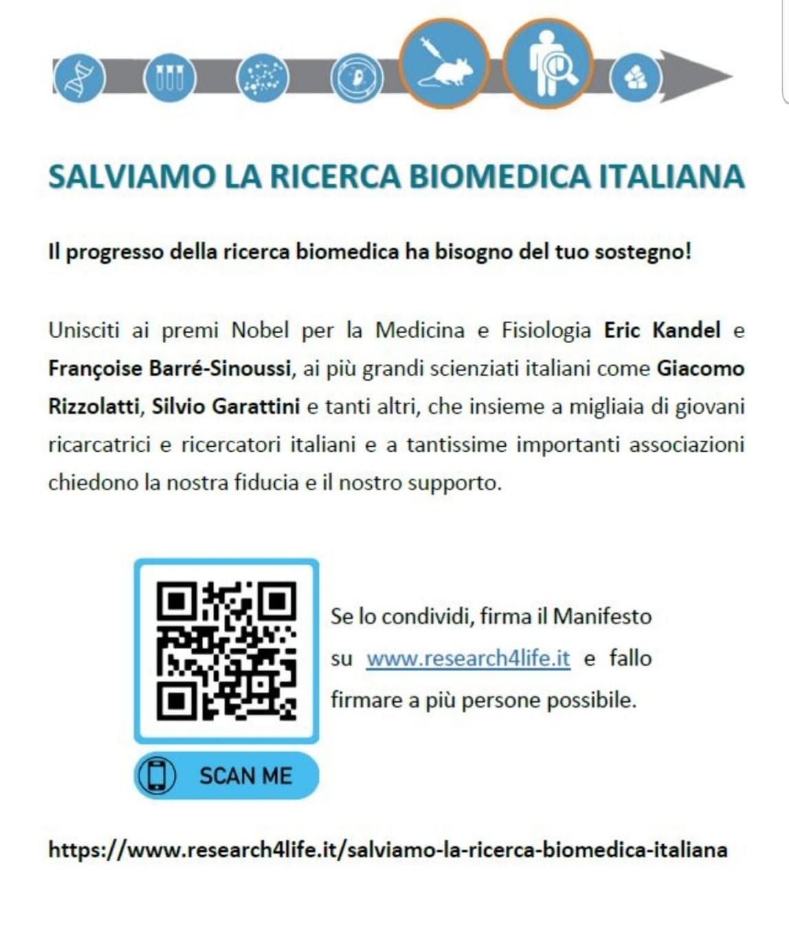 Salviamo la ricerca biomedica